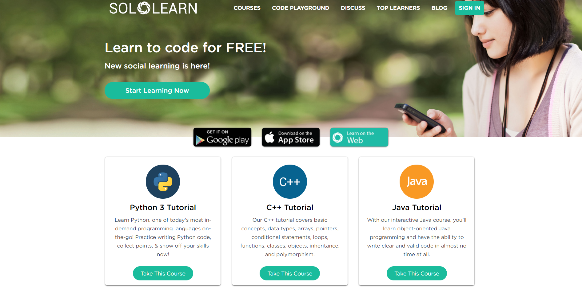 solo learn site